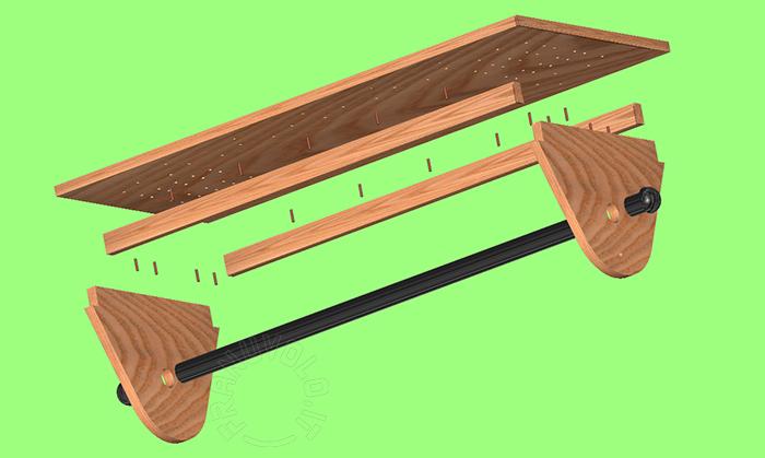 Tavolo Da Lavoro Per Webmaster : Tavolo con piano inclinabile